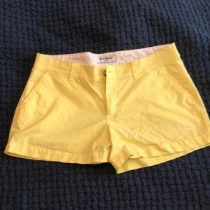 Yellow chino shorts